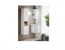 Bathroom Cabinet Corner Set 40cm Wall Mounted with Sink White Gloss - Finka