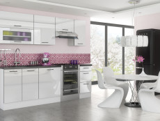 White High Gloss Kitchen Oven housing Base Cabinet 60cm Unit - Roxi (Roxi DK60)