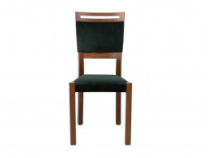 Modern Dining Chair Solid Wood Frame Velvet Soft Forest Green Fabric Seat  - Gent