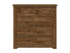 Classic Bedroom Tall Chest of 5-Drawers Dresser Storage Unit Dark Oak - Patras