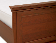 King Size Bed Classic Style Traditional Bedroom Furniture Chestnut Finish - Kent