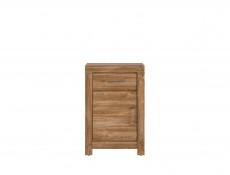 Modern Oak Effect Cabinet Side Table 1 Door 1 Drawer Bedside Storage Office Unit - Gent (M244-KOM1D1S/10/7-DAST)