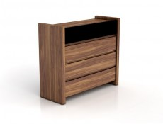 Venom - Wide Chest of Drawers Black Gloss