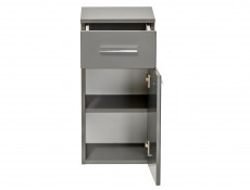 Modern Wall Hung Base Cabinet with Drawer Bathroom Storage Unit Grey Matt/Grey Gloss - Twist