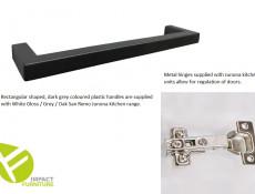 Modern Free Standing Kitchen Cabinet 400 Base Cupboard Unit 40cm Right Hand Grey/White Gloss - Junona
