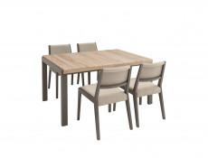Grey & Oak Dining Room Furniture Set - Author