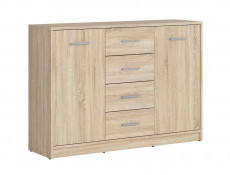 Sideboard Dresser Cabinet Modern Living Room Storage Drawers Unit in Sonoma Oak Effect Finish - Nepo