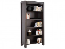 Bookcase Shelf Cabinet in Wenge brown finish - August