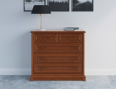 Chest of Drawers Classic Style Traditional Bedroom Furniture Chestnut Finish - Kent