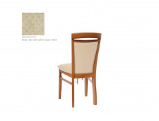 Traditional Dining Room Chair Cream fabric Classic Style Furniture Cherry Finish- Natalia