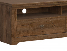 Traditional TV Cabinet Unit Stand Classic Living Room Dark Oak - Patras (S405-RTV2S-DARL)