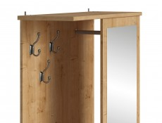 Compact Entrance Hall Hallway Furniture Set with Mirror Oak finish - Porto