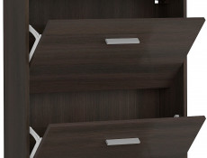 Triple Door Shoe Cabinet Slimline Storage Wenge Dark Wood Effect Finish- Nepo (S435-SFB3K-WE-KPL01)