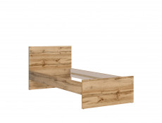 Modern Sturdy Single Bed Frame in Oak Finish - Matos (S414-LOZ/90-DWO)