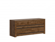 Classic Large Chest of Four Drawers Storage Unit Dark Oak/Grey - Kada