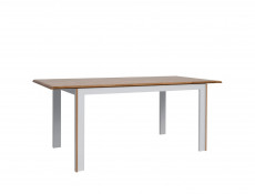 White & Oak Wood Extending Dining Table - Bari (S332-STO/140-BI/DNA-KPL03)