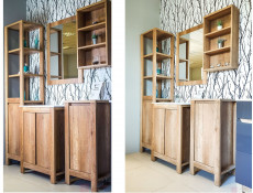 Classic Vanity Bathroom Cabinets Set Freestanding 60cm Sink Unit Tallboy Mirror Oak - Classic Oak (CLASSIC_820+CFP-9060_DP+840+800+830+810_SET_OAK)