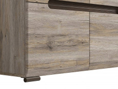 Square Small Contemporary Sideboard Cabinet Oak San Remo - Azteca