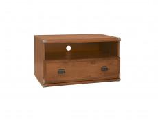 Modern 80cm TV Stand Entertainment Cabinet with Drawer & Display Shelf Unit Dark Oak Effect - Indiana (S31-JRTV1s-DSU-KPL01)