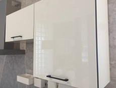 White High Gloss Wall Kitchen Cabinet Cupboard 1 Door Unit 60cm - Roxi