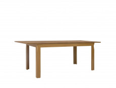 Traditional Light Oak Dining Room Table with 4 Chairs Set in Beech Wood with Grey Seat - Bergen