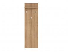 Modern Wall Mounted Hall Panel with Three Coat Hooks and Shelf Riviera Oak Effect - Balder (S382-WIE/45-DRI-KPL01)