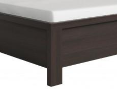 Modern Double Bed Frame in Wenge Dark Wood Finish with Solid Wood Slats - Kaspian (S128-LOZ/140-WE/WE-KPL01+D15-WKL140/L21)