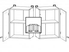 Modern Kitchen Wall Cabinet 400 Cupboard 40cm Unit White/White Gloss - Junona