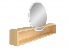 Modern Mirror Shelf Extension for Dressing Table Oak Finish - Pori
