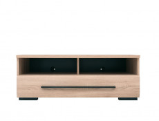 Modern 1-Drawer Living Room Media Bench TV Cabinet Storage Unit 100 cm Sonoma Oak - Fever