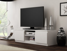 Modern Small TV Cabinet 120cm Unit White Matt - Cheri