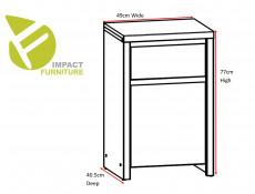 Modern Side Cabinet Small Storage Drawer Unit White Matt - Kaspian