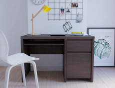 Office Study Furniture Set 1 Wenge Brown - Kaspian