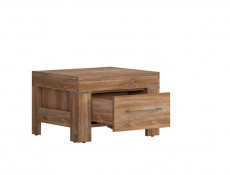 Modern 1-Drawer Bedside Nightstand Table Cabinet Storage Unit Oak - Gent (S228-KOM1S-DAST-KPL01)
