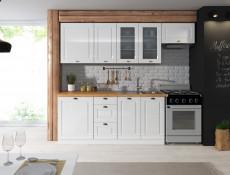 White High Gloss Kitchen Cabinet 1 Door Extractor Housing 600 Unit 60cm Shaker Style - Antila (HOF-ANTILA-W60K/36_OKGR-BI-BIP-KP01)
