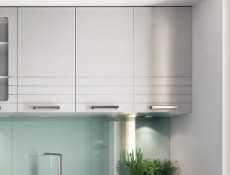 Light Grey Kitchen Wall Cabinet with Door 40cm Cupboard 400 Unit - Paula (STO-PAULA-W40-P/L-GR/DOVE-KP01)