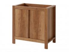 Classic Vanity Bathroom Cabinets Set Freestanding 80cm Oak - Classic Oak (CLASSIC_821+CFP-80_D+841+800+830+810_SET_OAK)