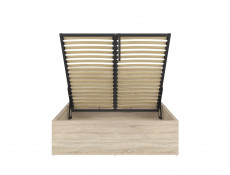 Modern Sturdy Ottoman Double Bed Frame Gas Lift Up Storage Sonoma Oak - Tetrix