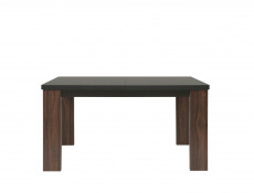Extendable Dining Table with black glass top - Alhambra (STO/140)