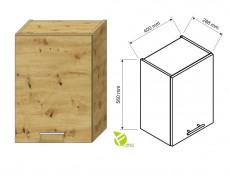 Complete Kitchen Set of 7 Cabinets Units Flat Pack in Artisan Oak with Franke Sink – Nela 2
