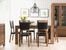 Extendable Dining Table & 4 Chairs Set Oak finish- Gent