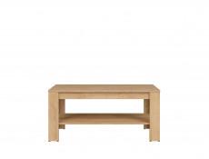 Modern Rectangular Coffee Table with Storage Shelf 110 cm Riviera Oak - Balder