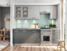 Mocca Grey Kitchen End Panel 56x87cm for Base Cabinet Cupboard Unit - Paula