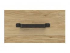 Modern Industrial Chic Compact Sideboard with Drawers & Open Storage Shelf Belarus Ash - Lara