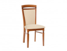 Traditional Dining Chair Solid Wood Cherry Cream fabric - Natalia (NATALIA DKRS II)