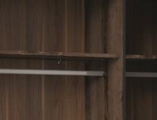 Elegant Large Sliding Door Wardrobe Hanging Rail Bedroom Storage Unit Oak/Black - Kassel