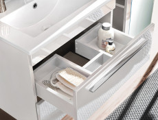 Modern 5-Piece Wall Bathroom Furniture Set Cabinet Storage Units Soft Close White/White Gloss - Twist (TWIST_820_SET_WHITE)