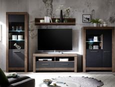 Modern Living Room Small Sideboard Dresser Storage Cabinet 1 Door Unit with 3 Drawers Oak - Balin (S365-KOM1D3S-DMON-KPL01)