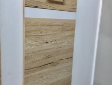 Free Standing White Gloss/Oak Kitchen Cabinets Cupboards Set 7 Units - Junona (JUNONA SAN REMO)