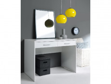 Modern Compact 2 Drawer 100cm Desk Home Office Study in Wenge, White or Sonoma Oak Finish- Nepo
